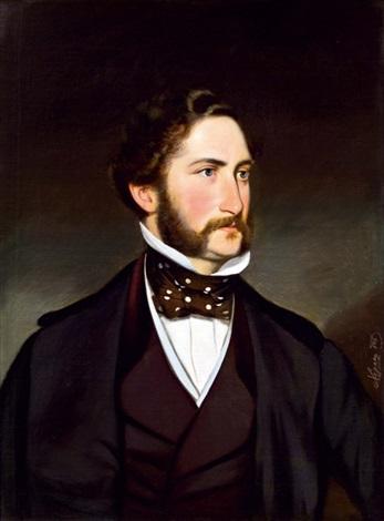 Joseph Mathäus Aaigner - Porträt des Dichters Nikolaus Lenau